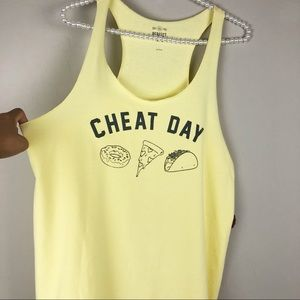 Cheat day Graphic tank top  by SO